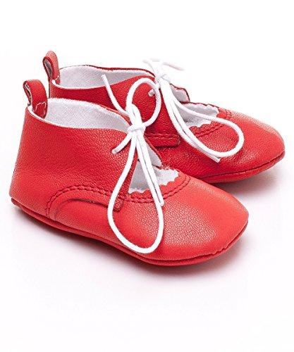 Chaussure De Bébé Poussoir De Cuir Cuir Sandales Chaussures Premiers Pas Chaussures De Bébé Red - RED