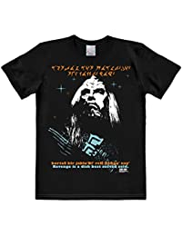 Logoshirt Klingon Revenge T-Shirt - KOR - Star Trek Short Sleeve Tee Crew Neck T-Shirt - Black - Licensed Original Design - High Quality