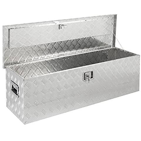 Best Choice Products 49 Aluminum Camper Tool Box W/ Lock Pickup Truck Bed ATV Trailer Storage by Best Choice Products