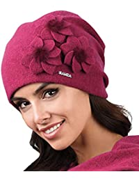 Amazon.it  cappello lana donna - Rosa   Cappelli e cappellini ... a62df935ee95