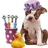 Sue Supply Hund Zahnbürste,-Grilllampe mit 3Strahlern Zahnbürste Mehrwinkel Reinigung entfernen Dental Zahnstein Für Haustier