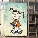 yiyiyaya Colori Multipli Mucca/Toro Arte Pop Moderna da Parete SELFLESSLY ArteCartoon Pittura Stampa su Tela Immagini Stampa Poster per Cameretta per Bambini Giappone Art-50x75CM_No_Frame_NARA-12