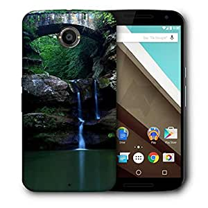 Snoogg Nature Waterfall Designer Protective Phone Back Case Cover For Motorola Nexus 6