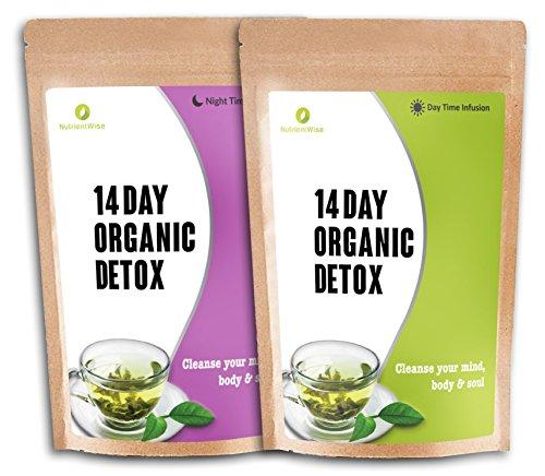 NUTRIENT WISE Orgánico Detox Té Verde De Hierbas Naturales De Pérdida De Peso Suplementos De Dieta (Infusión durante el día & Noche tiempo )