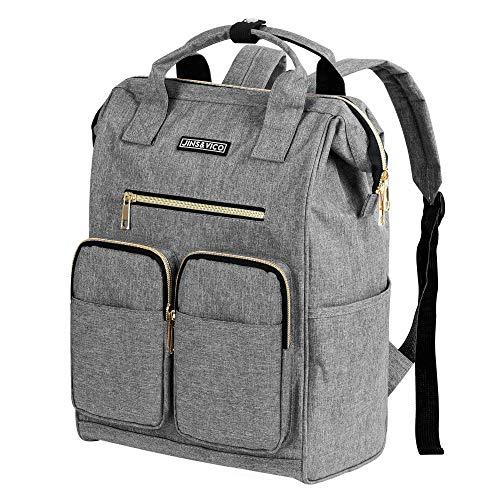 Rucksack Damen Herren Studenten Daypack Einfacher und Leichter Tagesrucksack für 13-Zoll Laptops(Grau)