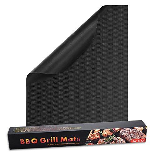 sourcing map 33x40cm BBQ Grill Matte Set Antihaft Grill Utensil Gaskohle Elektro (Im Kohle-gewebe Freien)
