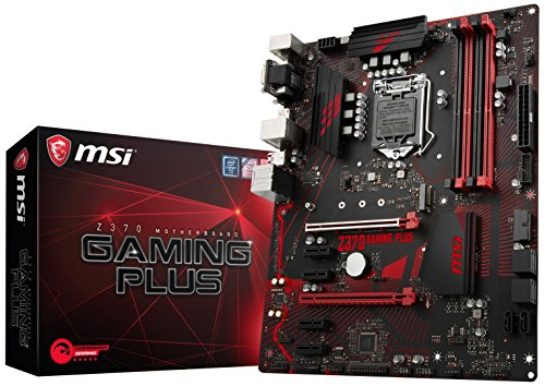 MSI Z370 Gaming Plus Scheda Madre, Socket LGA 1151, supporta memorie DDR4 4000+ (OC), Nero