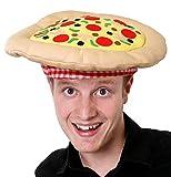 Chapeau en forme de pizza pour mettre en avant sa Pizzeria. Ideal pour les enterrements de vie de garçon.