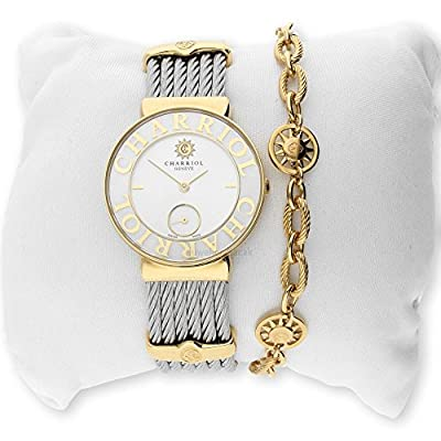 Charriol Women's Watch ST30YC. 560.012 St. Tropez Stainless Steel Two-Tone Gold Plating