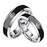 Best Romantic Time Friend Infinity Rings White Golds - Daesar 1PCS Ring Stainless Steel Women and Men Review