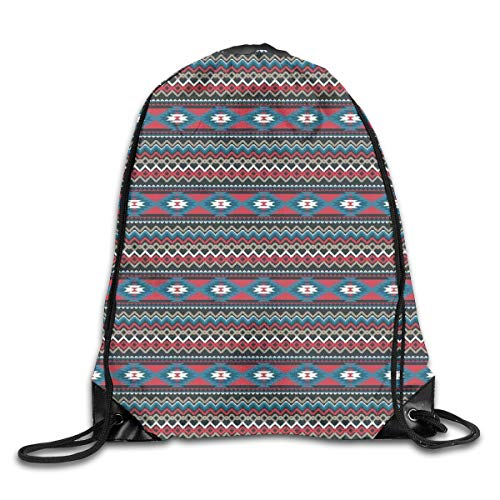 New Shorts Primitive Style Aztec Folkloric Striped Design Antique Maya Patterns Drawstring Backpack Rucksack Shoulder Bags Sport Gym Bag for Men and Women -