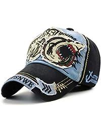 DAMENGXIANG Hombres Mujeres Gorra De Béisbol De Algodón Clásico Bordado De Tiburones Estudiantes Snapback Sombreros Hip