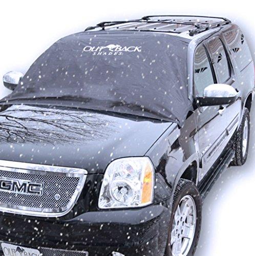 AUTO FRONTSCHEIBENABDECKUNG - Der perfekte Schutz für die Windschutzscheibe gegen Schnee, Eis, Frost und Sonne - Magnet-Fixierung - 145x188 cm groß, passt zu grossen PKWs, SUVs und Minivans (nicht für Kleinwagen geeignet) - mit GARANTIE (Eis Windschutzscheibe Abdeckung)