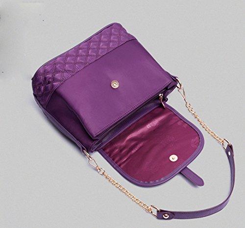Keshi Nylon Niedlich Damen Handtaschen, Hobo-Bags, Schultertaschen, Beutel, Beuteltaschen, Trend-Bags, Velours, Veloursleder, Wildleder, Tasche Lila