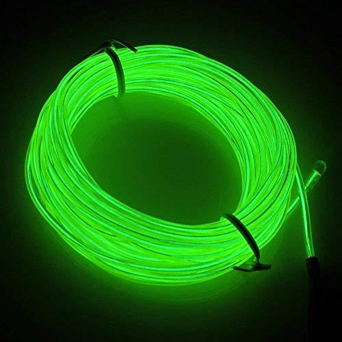 5M Flexible EL Fil Tube Néon Light Avec Contrôleur 3 Modes LED Lumière, Parti de Noel Fete Decoration Voiture Cuisine Exterieure (Vert)