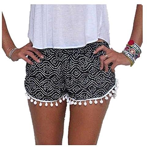 OVERMAL Les Femmes Polka Dot Taille Haute, Pantalons Courts Nouveaux Shorts Summer Occasionnel (M,