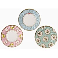 Talking Tables Frills and Frosting Plates for Tea Party and Birthday, 21cm (12 Pack in 3 designs)