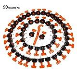 Topway Fliesennivelliersystem 50 Stück (wiederverwendbar)