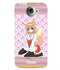 ColourCraft Blue Eyed Girl Back Case Cover for HTC ONE X