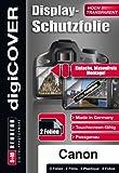 digiCOVER - Pellicola protettiva per schermo LCD per Canon PowerShot SX 500 IS, confezione da 2 pezzi