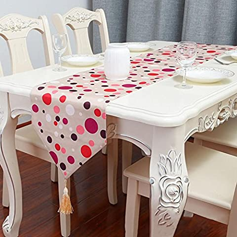 ZB Estilo americano rural moderno minimalista geométrico estampado de algodón, mantel de la bandera de mesa de lino corredor té cama ,