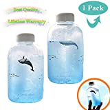 Water Bottle,Glass Cup Creative Drinks Sports Storage Bottle Office Kitchen Home JaLL