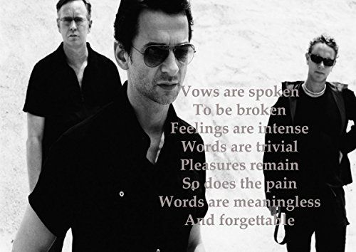 Ula Bear Poster mit Songtext, Enjoy The Silence von Depeche Mode, A3
