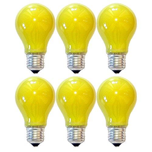 6 x LED Leuchtmittel Birnenform Anti Insekten 5W E27 Gelb (Fliegen 6 Licht)