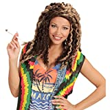 NET TOYS Rastafari Perücke mit Dreadlocks Jamaika Rastaperücke Bob Hippie Damenperücke mit Locken Rasta Herrenperücke Reggea Man