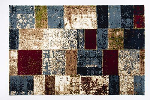 Seiden-schimmer-glanz (BRILLIANCE PATCHWORK moderner Designer Teppich in multicolor, Größe: 240x290 cm)