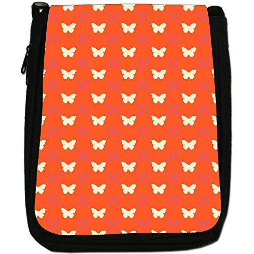 Fancy A Snuggle, Borsa a spalla donna Stunning Butterfly On Orange