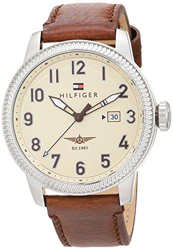 Tommy Hilfiger Herren Analog Quarz Uhr mit Leder Armband 1791315