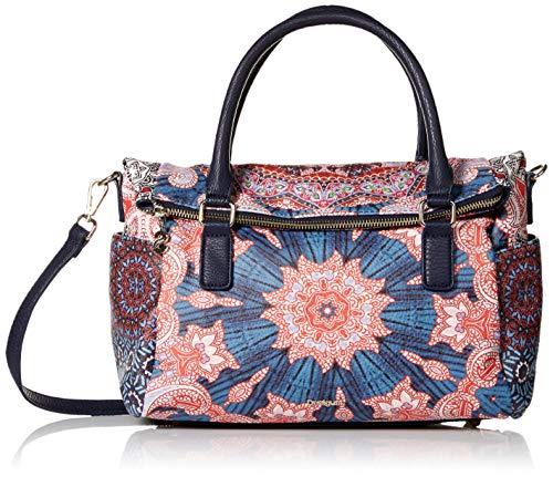 Desigual Damen Handtasche Tasche Henkeltasche Afro Loverty Leder Kunstleder Rosa 18WAXPB2-3022