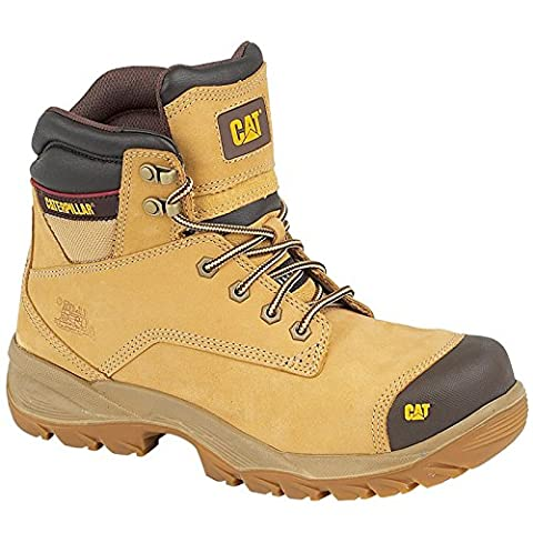 Caterpillar Mens Spiro Safety Work Boots Brown