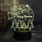 3D LED Beleuchtung Rodeln Lieber Weihnachtsbaum Rgb Nachtlichter Usb Warm Schreibtischlampe Home Happy Christmas Geschenk Für Kinder