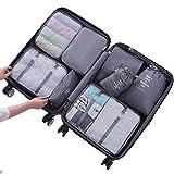 Kleidertaschen,Likeluk 8 Stück Premium Packwürfel, Verpackungswürfel, Packtaschen, Kleidertasche, Koffer-Organizer, Aufbewahrungstasch