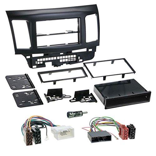 mitsubishi-lancer-ab-07-1-din-autoradio-einbauset-inkl-kabel-adapter-und-radioblende-in-schwarz
