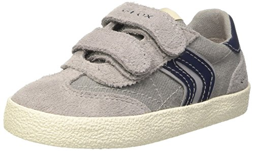 Geox Jungen Jr Kiwi Boy M Low-Top Grau (Grey/Navyc0665)