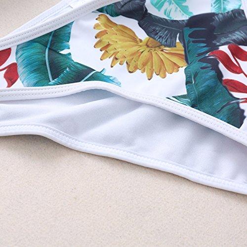 Sexy Frauen Reißverschluss Bikinis Anzüge Rücken Kreuz Brasilianischer Stil Gepolsterte Push up Bustier Multicolour Unterwäsche Tropical-Stil