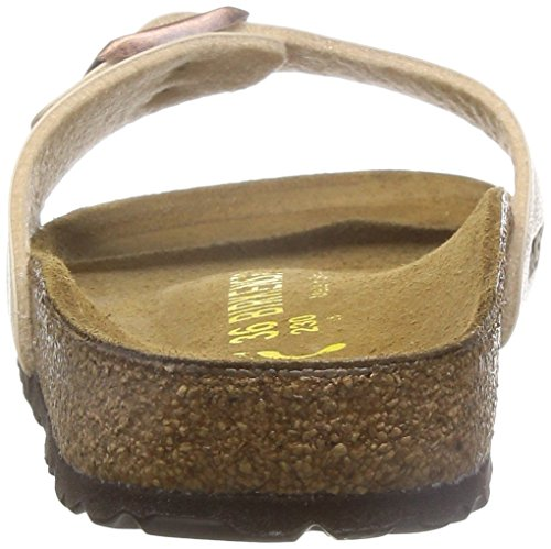 Birkenstock MADRID BF GRACEFUL, Pianelle donna, calzata stretta Écru  (Graceful Antique Lace)