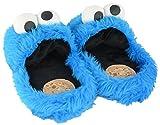 Sesamstrasse Hausschuhe Größe L 41-43 Krümelmonster 3D Slipper Cookie Monster Schuhe Sesame Street Shoes