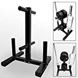 BodyRip 2' Olympic Weight Barbell Disc Plate Rack Stand Holder Tree Gym Storage