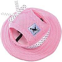 Mascota Perro del acoplamiento del casquillo sombrero de la princesa Con Cinturón Gorra con Los agujeros
