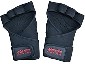 AQF Neoprene Weight Lifting Training Gloves Gym Weightlifting Fitness Gloves (Small)
