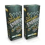 Sommer Schnee Doppelpack Instant Energy Sticks, koffeinhaltiges Getränkepulver, 240mg Koffein pro Stick entsprechen ca. 4-5 Tassen Espresso! Zu 100% Vegan, Made in Germany.