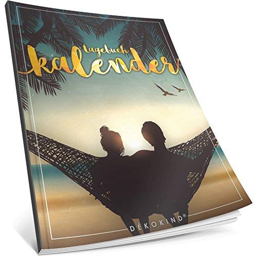 Dékokind® Tagebuch-Kalender: One Line A Day • Ca. A4-Format, Notizseiten & Zitate für jeden Monat • Kalenderbuch, Tagesplaner, Terminkalender • ArtNr. 02 Romantisch • Vintage Softcover