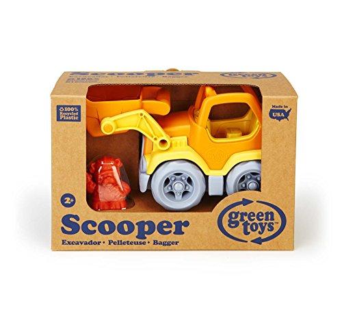Green Toys Cars, Trains & Bikes Green Toys Scooper Vehicle, Yellow/Orange