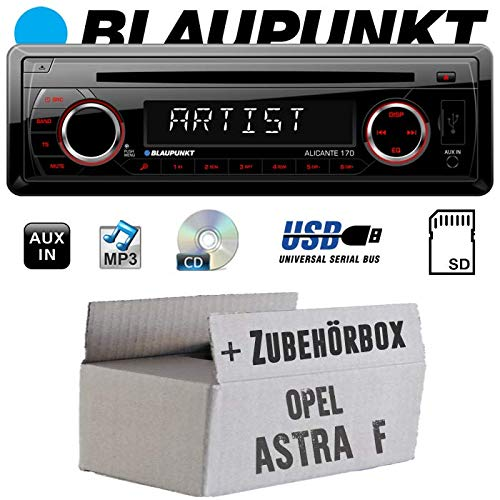 Autoradio Radio Blaupunkt Alicante 170 - CD/MP3/USB - Einbauzubehör - Einbauset für Opel Astra F - JUST SOUND best choice for caraudio