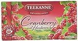 Teekanne Früchtegarten Cranberry mit Himbeere 20 Beutel, 6er Pack (6 x 60 g)