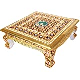 Udaipuri handicrafts Made Wooden Chowki Or Bajot Pooja Article Handmade Puja Handicraft for Home Decor Pooja Gift Item (18 inch)